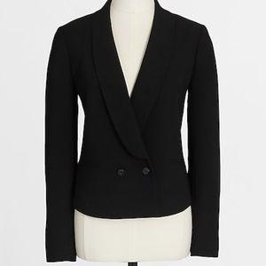 J. Crew black cropped drapey blazer